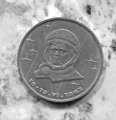 Cccp - Historical 20Th Anniversary 1St Woman In Space 1 Rouble, 1983, Y# 192.1