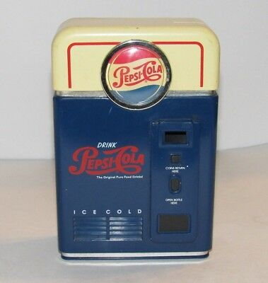Pepsi-Cola Vending Machine Coin Sorter Bank 1996 Pepsico