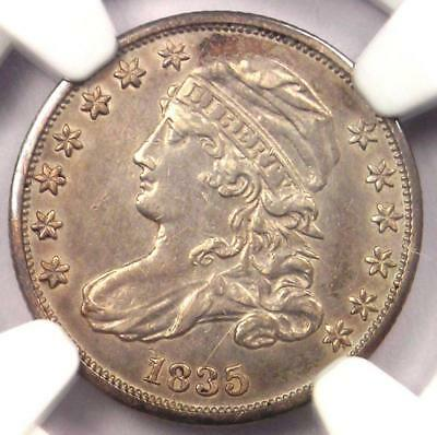 1835 Capped Bust Dime 10C - NGC XF Detail (EF) - Rare Early Certified Coin!