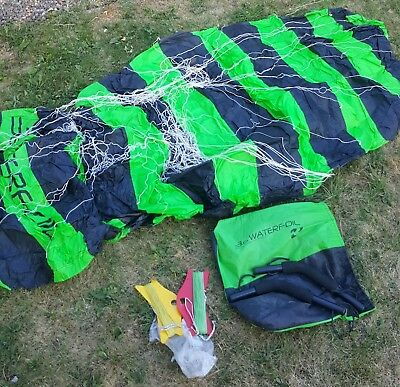 Peter Lynn Waterfoil 3.6 3.6m Kite Kite Surfing Power Black Green Free UK P+P