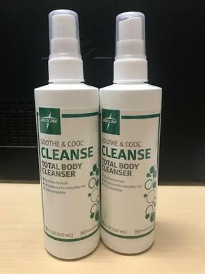 Two 8oz Bottles Medline Sooth& Cool Cleanse Total Body Cleaner