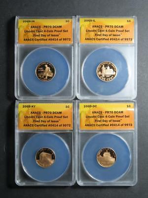 """2009 LINCOLN COIN AND CHRONICLES SET /""""5 FLAWLESS SETS AVAILABLE/"""" ONLY 2 LEFT !!"""
