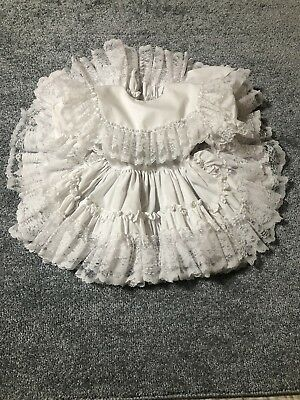 Dolls & Darlings Vintage Pageant Dress Size 2t White