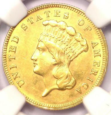 1889 Three Dollar Indian Gold Coin $3 - NGC Uncirculated Detail (UNC BU) - Rare!