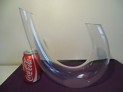 BIRKS Crystal Wine Decanter Lead Free Made in Portugal 56 oz~ Signed