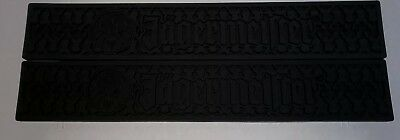 "2 Jagermeister Black Rubber Bar Rail Runner Spill Mat Heavy Duty 21 "" x 3 1/2"""