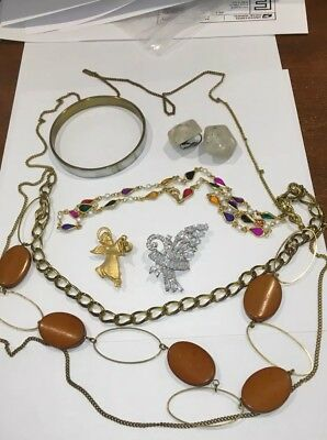Nice Lot Of Vintage Jewelry-Rhinestones, Mother Of Pearl, Faux Pearls & More