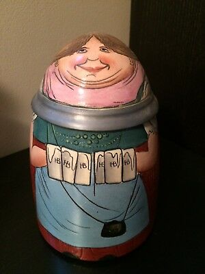 1/2L Reinhold Hanke Character Beer Stein - Roly-Poly Barmaid