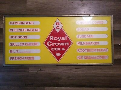 1950's Royal Crown Menu Board