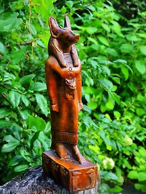 LARGE Standing Anubis Jackal Ancient Egyptian God of the Dead Vintage Statue