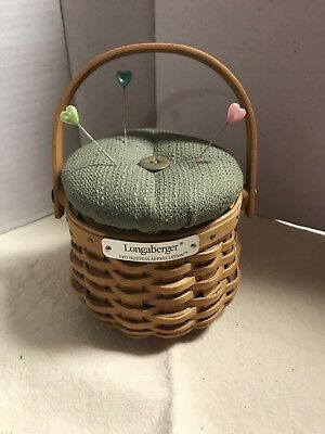 Longaberger 2003 Hostess Appreciation With Fabric Pin Cushion Lid + Protector