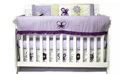 Nursery in a Bag 10 Piece Crib Bedding Set Lavender Butterfly Theme Girls Room