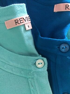 Review TWO 3/4 Sleeve Cardigans Retro Cardi Rockabilly Style Size 8