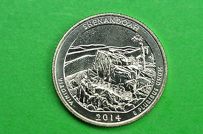 2014-P   BU Mint State (  Shenandoah )  US National Park Quarter