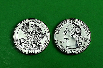 2012- P&D  BU Mint State (EL YUNQUE) US National Park Quarters (2 Coins)