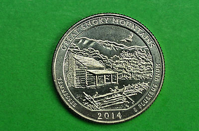 2014-D   BU Mint State ( Great Smoky Mountains )   US National Park Quarter