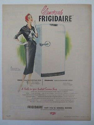 Vintage Australian advertising 1953 ad GM GENERAL MOTORS FRIGIDAIRE REFRIGERATOR
