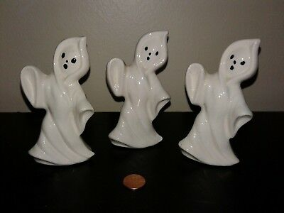 Halloween Spooky Ghosts  ~ Set Of 3 Figurines ~ Estate