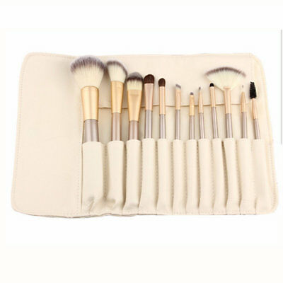 12pcs Pro Makeup Cosmetic Brushes Set Eye Face Lip Brush Tool with Pouch Bag
