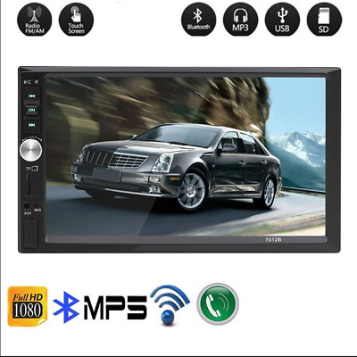 "Double 2 Din 7"" Car FM MP5 MP3 Player Touch Screen Stereo Radio Bluetooth US"