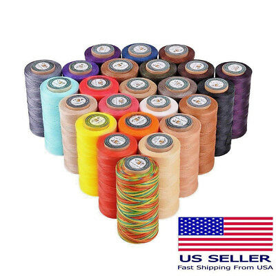 150D 0.8mm 284Yards 36 color Flat Waxed Thread Leather Hand Sewing Stiching Cord