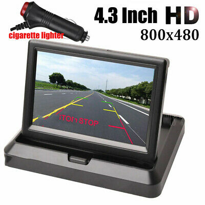 """Foldable 5"""" HD LCD Screen Parking Display Monitor For Car Front Rear View Camera"""
