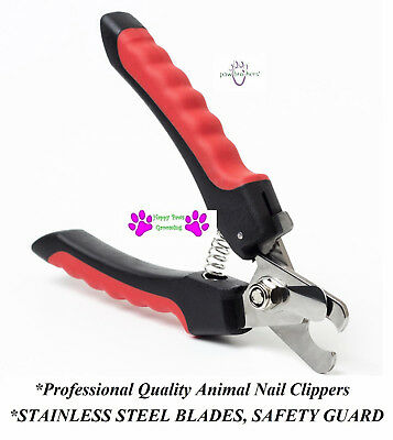 PRO Quality LARGE BIG DOG NAIL CLIPPER SAFETY GUARD&LOCK Scissor Claw Trimmer