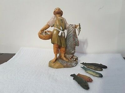 Fontanini Nativity 5 Inch Scale Hiram, Fisherman with Fish