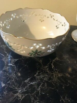 Lenox  Holiday China 🎄Ivory With Gold Trim Serving  bowl   Candy /Side Dish NEW