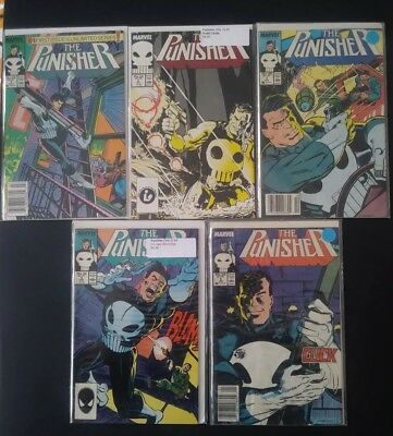 The Punisher Comic Lot #1-5