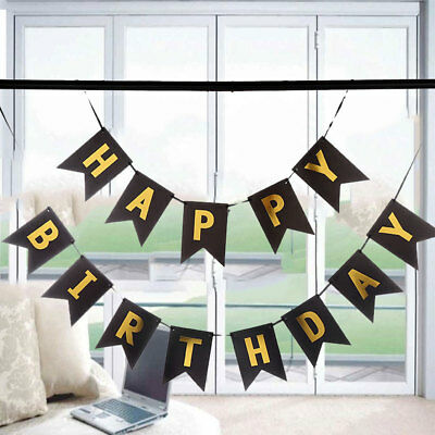 Happy Birthday Bunting Banner - Pastel Hanging Letters Party Decor Garland Favor