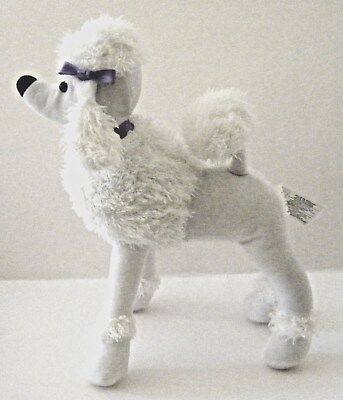 "AVON SCENTED POODLE PLUSH STUFFED ANIMAL COLLECTIBLE WHITE TOY DOG  11.5"" High"
