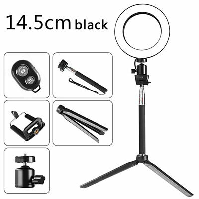 """6"""" LED Ring Light W/ Stand Dimmable LED Lighting Kit For Makeup Youtube Live"""