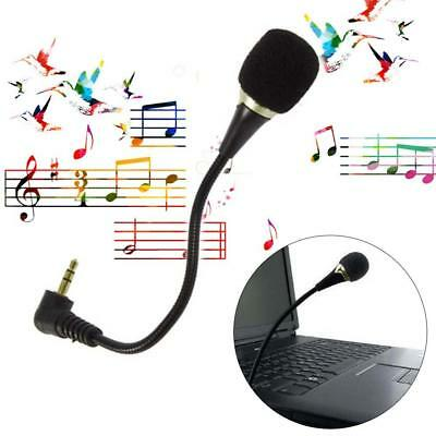 Mini 3.5mm Flexible Microphone Mic for PC Laptop Skype Chat Online Gaming Game