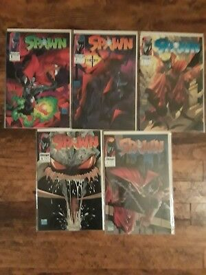 Spawn #1,2,3,4,5 lot  Todd MacFarlane. Movie Coming!  NM