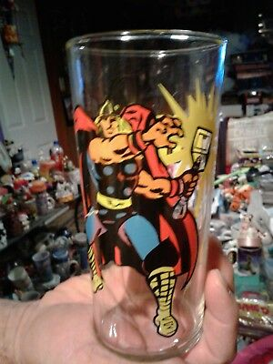 1978 Marvel Comics Thor Collector Drinking Glass Very Rare Hard To Find Look