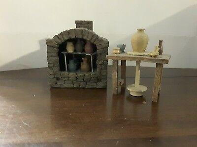 Fontanini Nativity 5 Inch Scale Kiln and Potters Wheel