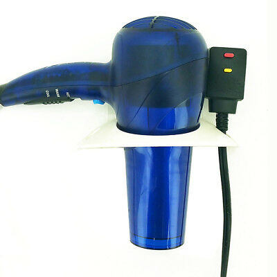 New! Wall/mirror Mounted Hair Dryer Holster - Hair Tool Organizer/holder -Opaque