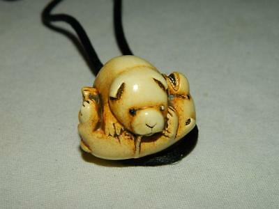 JAPANESE NETSUKE REPLICA MMA Metropolitan Museum of Art WRESTLING PUPPIES DOGS