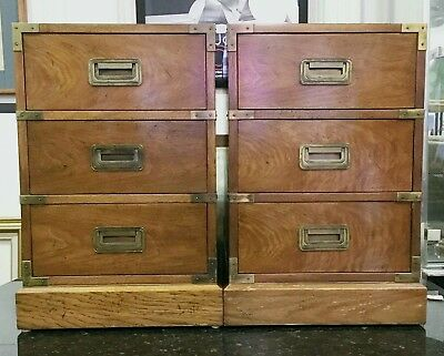 1960s Milling Road Baker Furniture small campaign style cabinets / local pickup