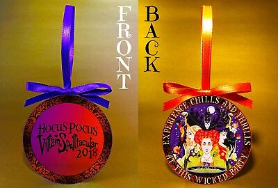 "2018 Disney HOCUS POCUS Villain SPELL-tacular-3"" Double-Sided Ornament-FREE SHIP"
