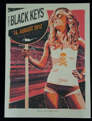 The Black Keys 8/14/2012 Poster Hannover Germany Signed Numbered 13/105 Rare!!!