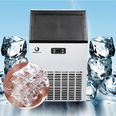 US Commercial Ice Maker Automatic Stainless Steel 24h Freestanding Portable NEW