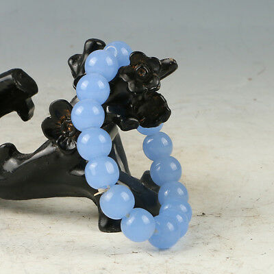 Chinese Hand-carved Natural Jade Bead Bracelet RS007+a