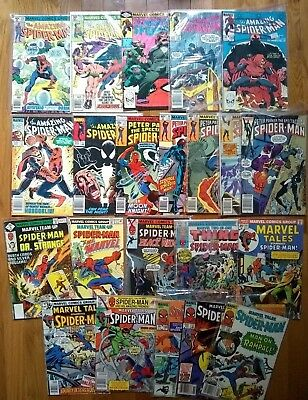 (27) Bronze Spider-Man comic lot: AMAZING, PETER PARKER, MARVEL TEAM-UP, TALES