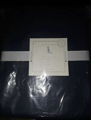 *REDUCED* Pottery Barn Kids Solid Flannel Toddler Duvet Cover NAVY NEW