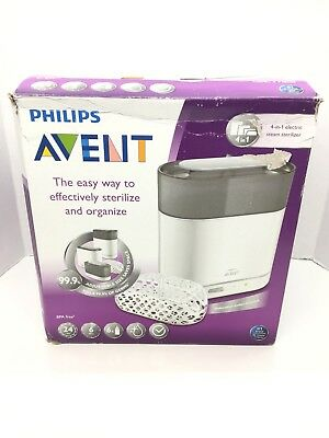 Philips AVENT 4-in-1 Electric Steam Sterilizer For Baby Bottles Pacifiers Etc.
