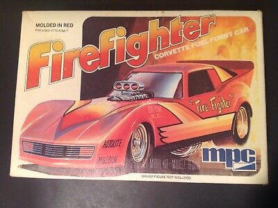 Mpc Firefighter Corvette Fuel Funny Car 1:25 Scale Kit# 1-0702 Issued 1980