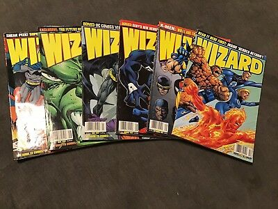 Lot of 6  Wizard The Guide to Comics Magazines No.# 66, 70-74