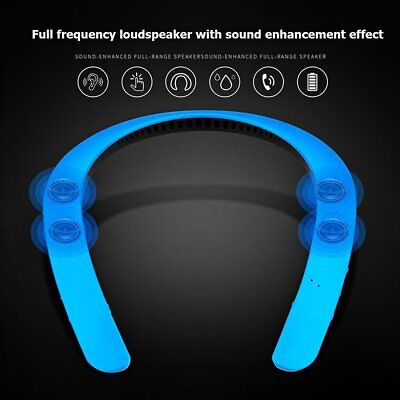 Portable Wearable Neckband Sports Wireless Bluetooth Speaker Stereo MP3 Player